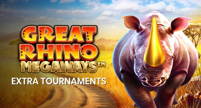 Banner great rhino megaways tournament