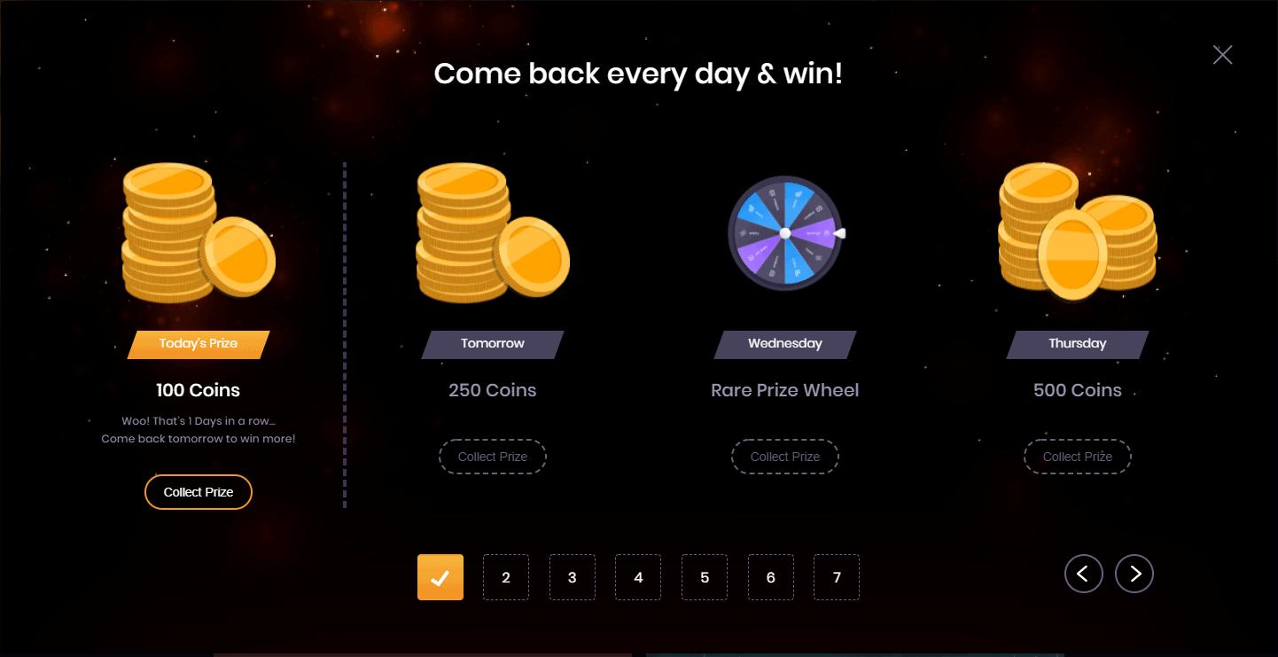 Daily Login rewards social tournaments