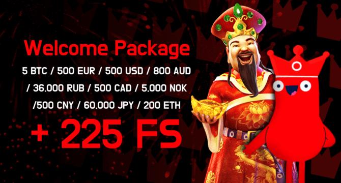 Oshi Online Casino Amazing Welcome Bonus Package